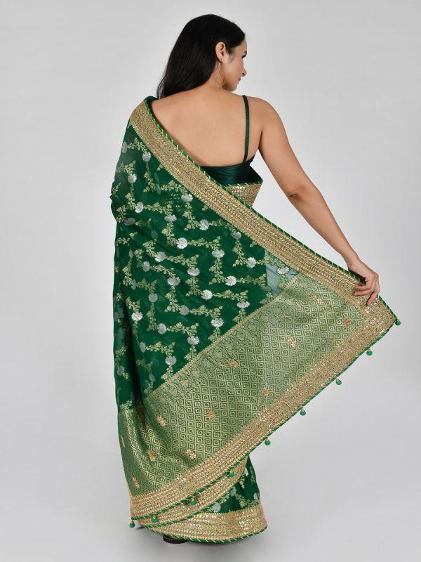 GREEN ART KHADDI SAREE