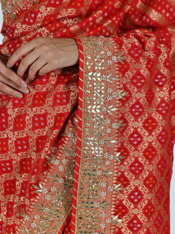 RED ART KHADDI SAREE