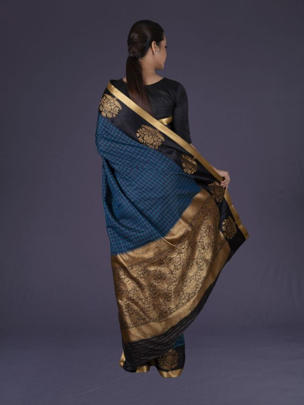 Firozi Banarasi Silk Saree