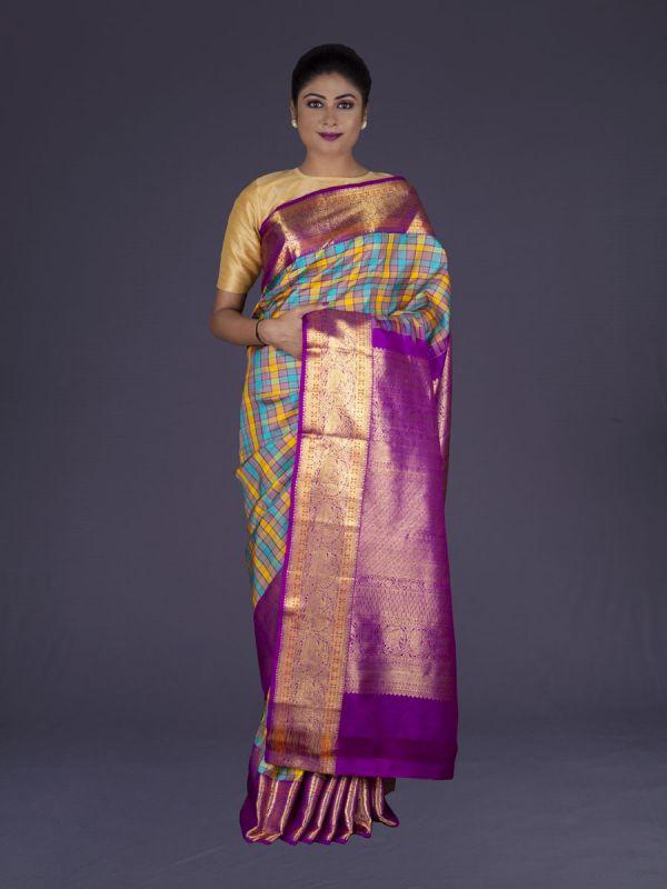 Multi Kanjivaram Silk Saree