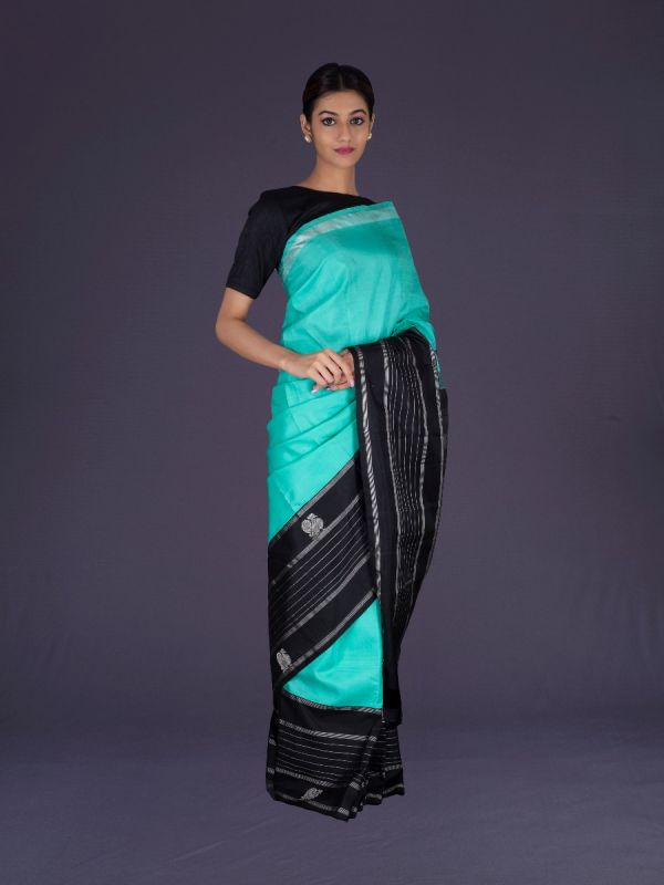 SEA GREEN KANJIVARAM SILK SAREE