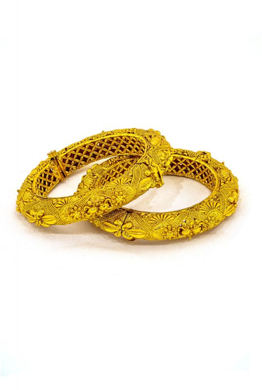 Silver Base Gold Plated Bangles