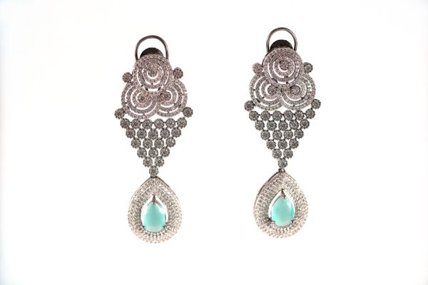 Silver Base Silver Plated Earings